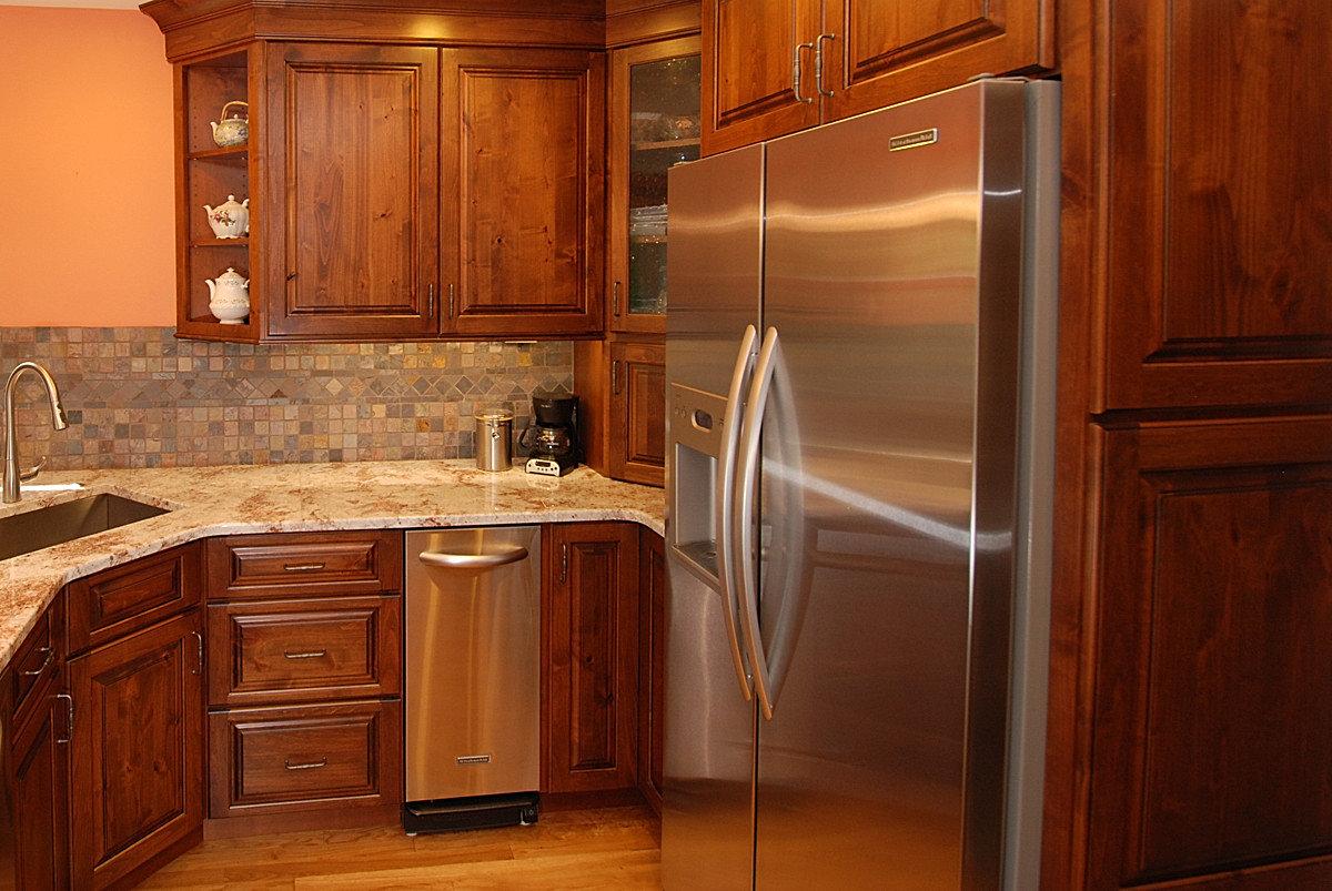 Counter Depth Refrigerator In Kitchen Counter top depth